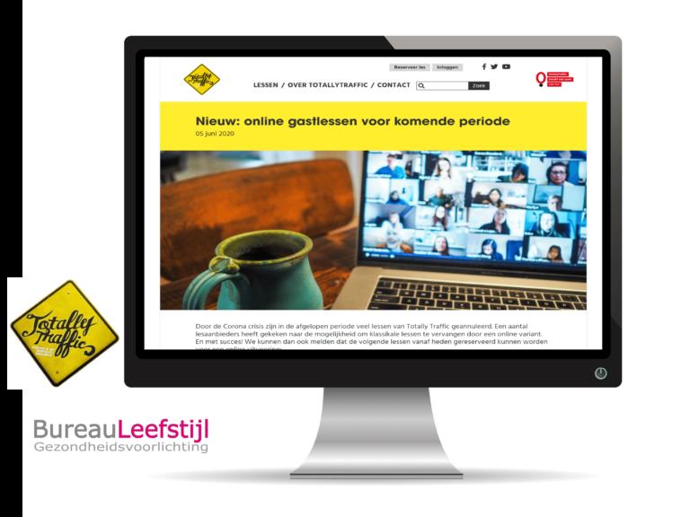 Nieuw! Online lessen in samenwerking met Totally Trafic!